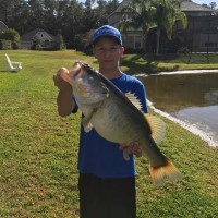 Griffin landed this 10.2 pound butter belly on a 6 inch Junebug Tournament worm.